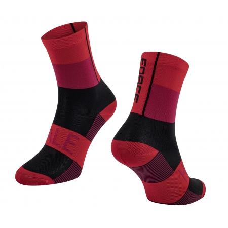 Ponožky Force Hale | červeno-černé obr.[1]