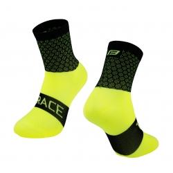 Ponožky FORCE TRACE | černo-fluo obr.[1]