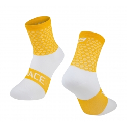 Ponožky FORCE TRACE | žluto-bílé obr.[1]