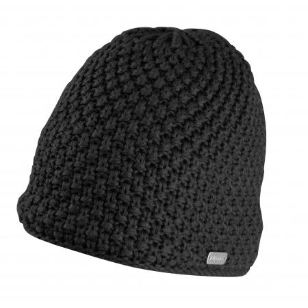 Čepice zimní FORCE GLEE | pletená | černá obr.[1]