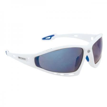 Brýle FORCE PRO bílé | modrá laser skla