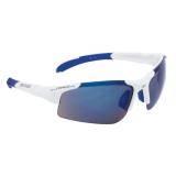 Brýle FORCE SPORT bílé | modrá laser skla