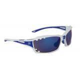 Brýle FORCE VISION bílé, modrá skla
