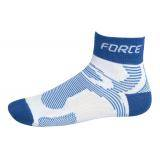 Ponožky FORCE 2 | bílo-modré