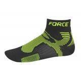 Ponožky FORCE 2 | černé-fluo
