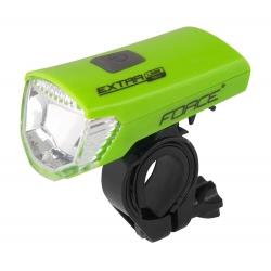 Světlo přední FORCE EXTRA USB 1 dioda | zelené obr.[1]