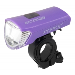 Světlo přední FORCE EXTRA USB 1 dioda | fialové obr.[1]