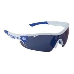 Brýle FORCE RACE PRO bílé | modrá laser skla obr.[1]