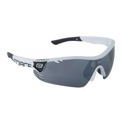 Brýle FORCE RACE PRO bílé | černá laser skla obr.[1]