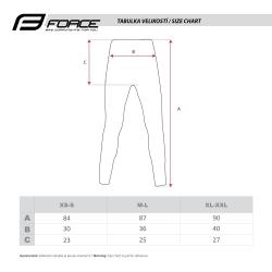 Kalhoty/funkční prádlo FORCE FROST   černé obr.[4]